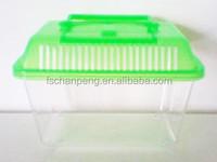 Portable goldfish & tortoise climb plastic box /pet box/mini goldfish bowl