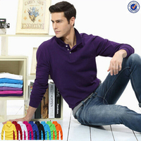 New Style Wholesale Price China Manufacturer Plain Long Sleeve Polo Shirt