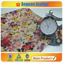 2015 newest special flower pu leather for wallpaper or shoes and bags decoration of flower fabric