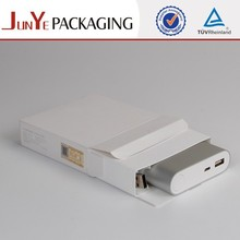 Popular quality guarantee free sample newest soft paper box for mobile power supply