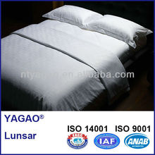 hotel use top quality double size bedsheet set, cotton jacquard bed sheet set