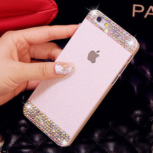 Glitter powder rhinestone bling luxury diamond clear crystal back cover Sparkle phone case for iPhone 5 5S in stock in stock