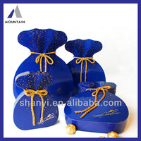 Mountain High quality blue paper chocolate box