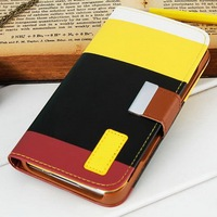 Design your own smart hybrid phone case for samsung galaxy S5 with lanyard and card holder