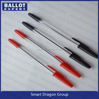 School plastic cheap ball pen fluent writing pen recyclable ballpoint pen