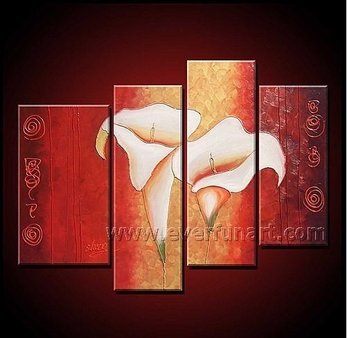 Modern Flower Art Paintings On Canvas