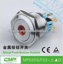 CMP brand 25mm MP025S/F22--D metal push button switch , stainless steel push button switch ,illuminated push button switch