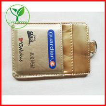 Factory manufacturer golden PU leather business card holder sets