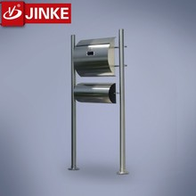 Outdoor Silver Letterbox With Lock Stainless Steel