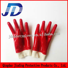 New product , pvc coated smooth surface knitted cuff working glove for safety equipments