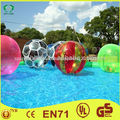 Dia 2m pvc bola inflable del agua, bola de la burbuja de agua, bola del agua caminando 2 con garantía de votos afirmativos