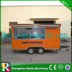 New design mobile food cart mini van for sale