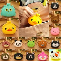 Wholesale Cheap Handbags 2015 Fashion Silicone Animals Coin Purse Ladies' Cute Wallet