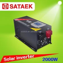 12v 24V 220V Pure Sine Wave DC to AC soalr Inverter 2000w With charger