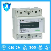 single phase two wire electrical Intelligent din rail energy meter