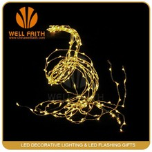 Yellow LED copper wire rattan string tree light promotion