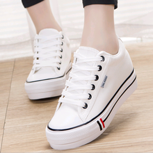 SAA1044 spring autumn fashion casual solid color low top lace-up women sneakers