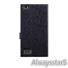 High Quality Flip Wallet Leather Back Cover for BlackBerry Leap Z20 Case