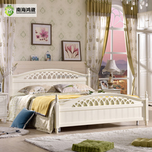 Promotional Wholesale Cheap Price Good Quality Modern Ivory White American King Queen Double Twin Single Size Wooden Bed Frame