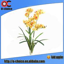 3 ramificaciones ramo de flores artificiales, coerulea vanda plástico