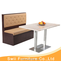 fast food restaurant dining table set exotic leather restaurant booth seating