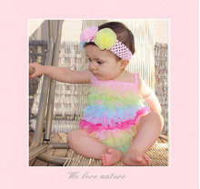wholesale summer rainbow petti romper for baby girls Baby Clothing