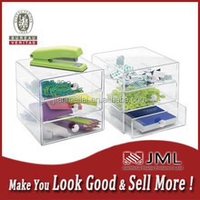 unique 3 drawer clear acrylic make up organizer