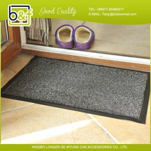 Home center sweet house cutting pile solid color black pvc anti slip mat