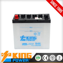 High Performance 12V 45AH lead acid car battery NS60 dry charged car battery