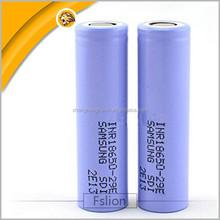 2900mah samsung 18650 battery samsung inr18650 29e samsung inr18650-29e lithium li ion battery cells for ecig /flashglight