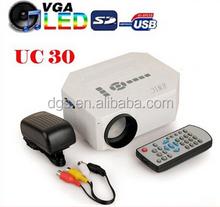 UC30 School Projector HDMI mini 3D Projectors Support HDMI Cheap 1080p LED Pico Projector