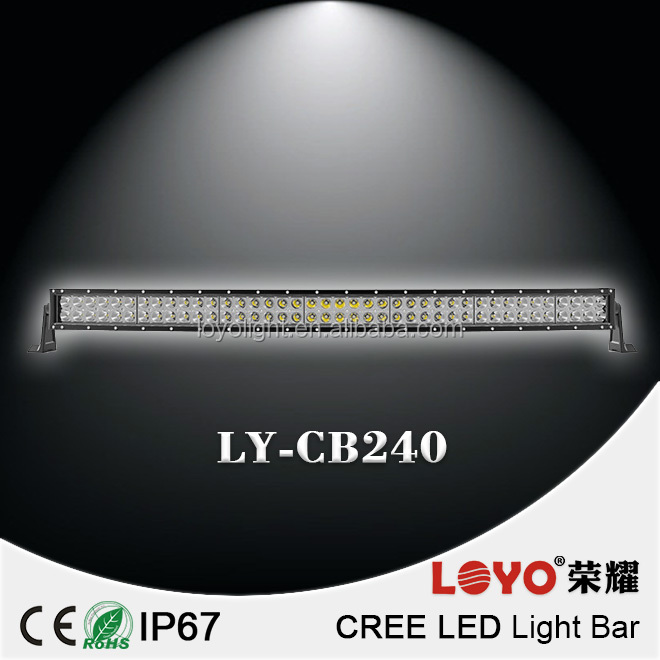 "(2014 Newest!!) cree Curved led light bar 40"" 240W cree led light bar for Trucks SU/4WD off road led light bar"