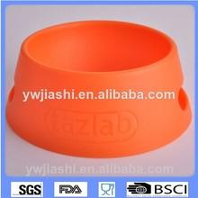Venta al por mayor customed color de gran tamaño plegable portátil plegable de silicona perro tazón de