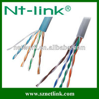 24AWG bare copper (or CCA) solid and stranded utp cat5e lan cable