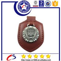High quality custom key chain leather and metal keyring souvenir key ring