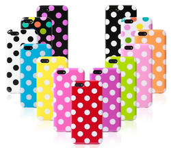 TPU+ UV coating colorful small dots mobile cover for iphone 6 case