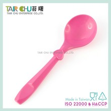 Pink Disposable Plastic Spoon
