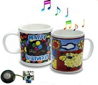 Musical coffee mug/talking cup/promotion cup