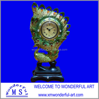exquisite peacock desk clock with various designs