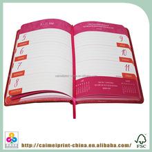2015 caimei custom dairy notebook, daolin notebook, decorate notebook cover printing