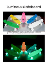 Children scooters four adult men and women banana board four means of luminous fish board skateboards single rocker