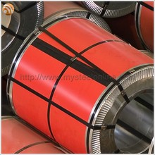 914mm 0.5mm Luminous Red Prepainted Galvanized Steel Coil for Roofing