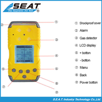 Safety Handheld CO H2S O2 Gas Water Leak Detection System
