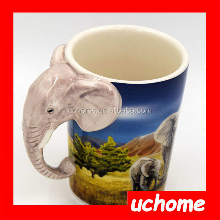 Uchome Ceramic Elephant Animal Shaped Mugs Buy Animal