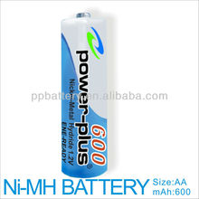 High Quality And Competitive Price NimH AA 600mAh 1.2V Rechargeable Battery