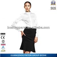 New Design Formal Long shirts for women 2014