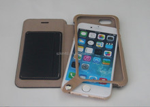 card slot leather case with snap button for iphone 6/iphone 6 plus
