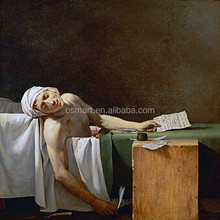 Professional Artists Team Handmade Death of Jean-PaulMarat Oil Painting Reproduction on Canvas for Wall Art Decoration