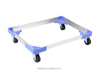 Aluminum Hot selling Wheeled Crate Skate, Wheeled Crate Skate customize size according to the turnover box