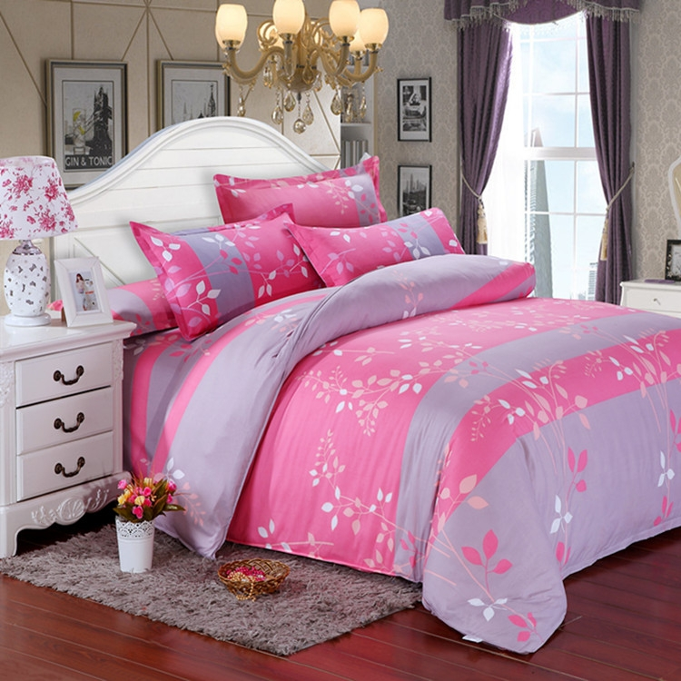 Home Textile Reactive Print 4pcs Bedding Sets Luxury